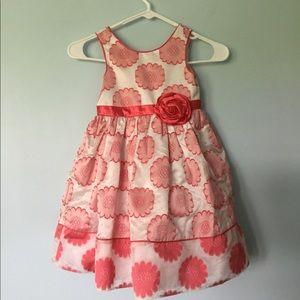 Sweet Heart Rose pin/white flowered dress Girl 5